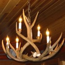 Sagebrush Mule Deer Antler Chandelier