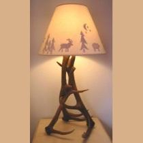 Real Elk Antler Table Lamp