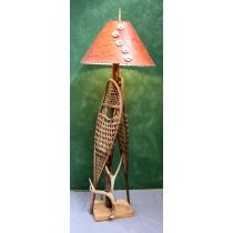 Snowshoe & Elk Antler Floor Lamp
