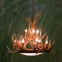 Dallas Dome Elk Antler Chandelier
