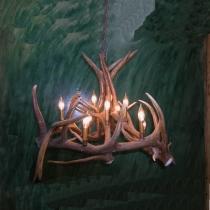 Elk Antler Basket Chandelier