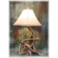 Hildalgo Medium Whitetail Deer Antler Table Lamp, Antler Lighting