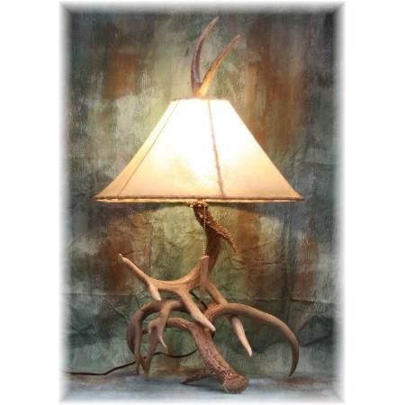 Hidalgo   Trophy Whitetail Deer Antler Table Lamp
