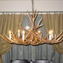 Columbine Mule Deer Antler Chandelier